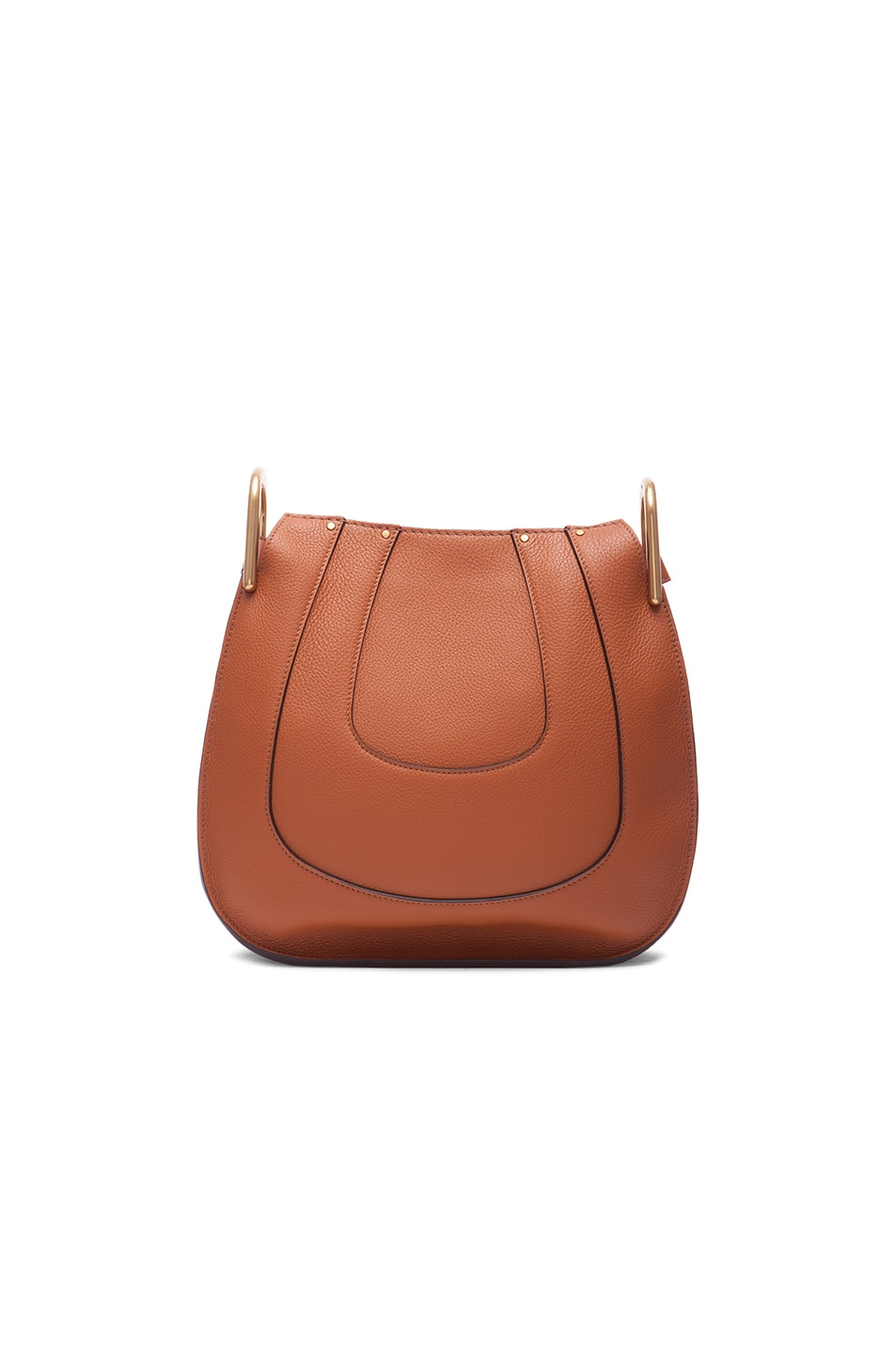 Image 3 of Chloe Small Hayley Leather Hobo in Tan
