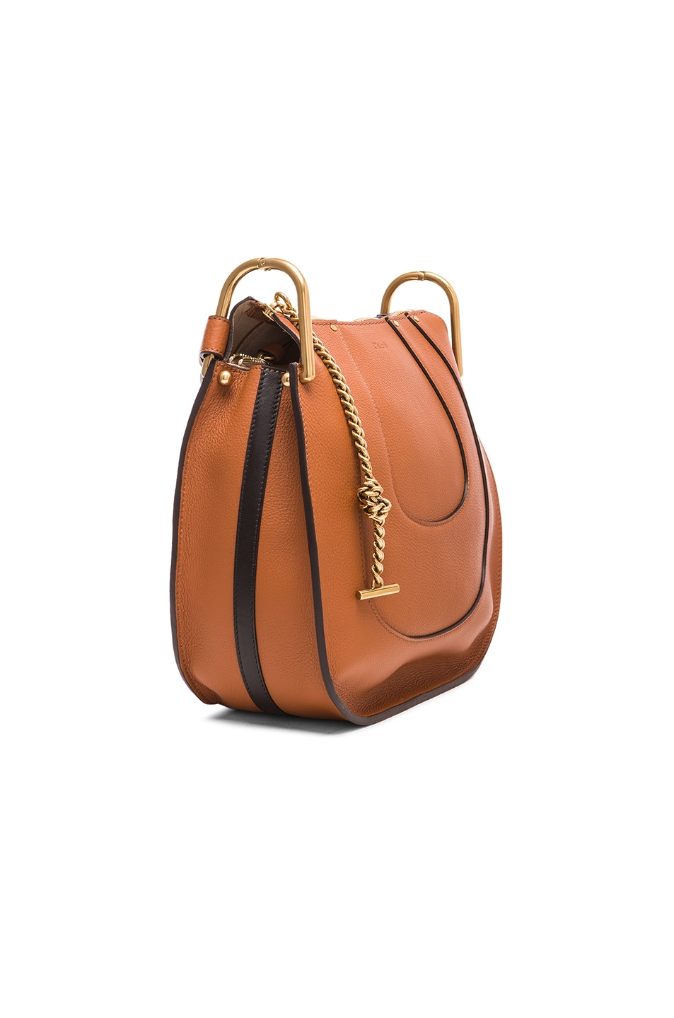 Image 4 of Chloe Small Hayley Leather Hobo in Tan