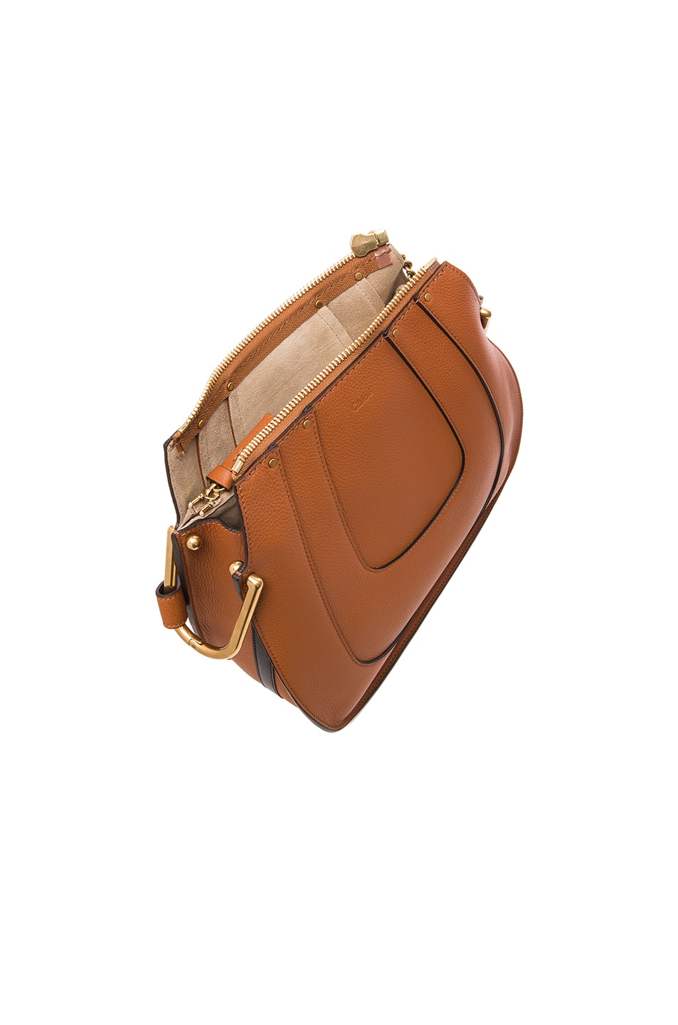 Image 5 of Chloe Small Hayley Leather Hobo in Tan