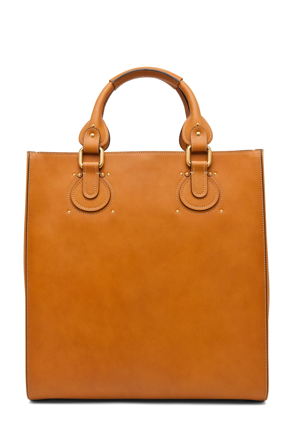 Image 2 of Chloe Aurore Tote in Caramel
