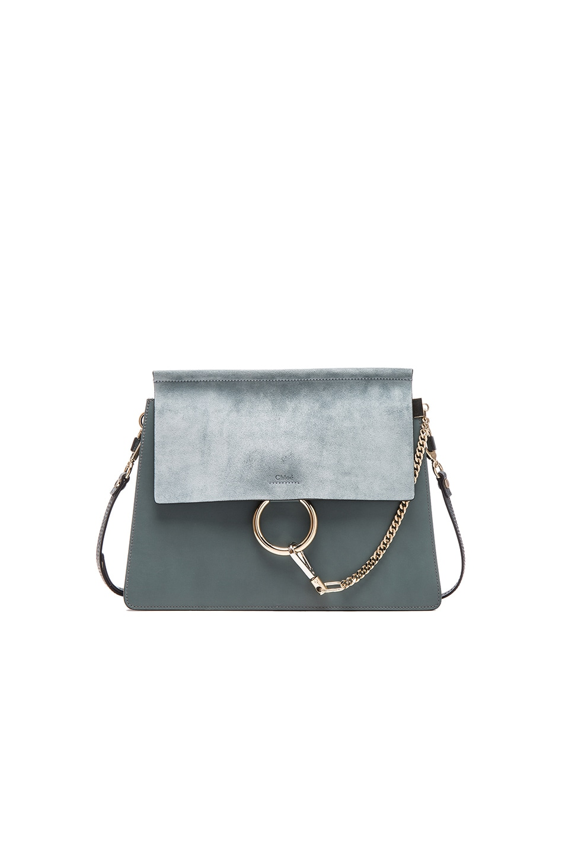 Chloe Medium Faye Bag in Cloudy Blue | FWRD