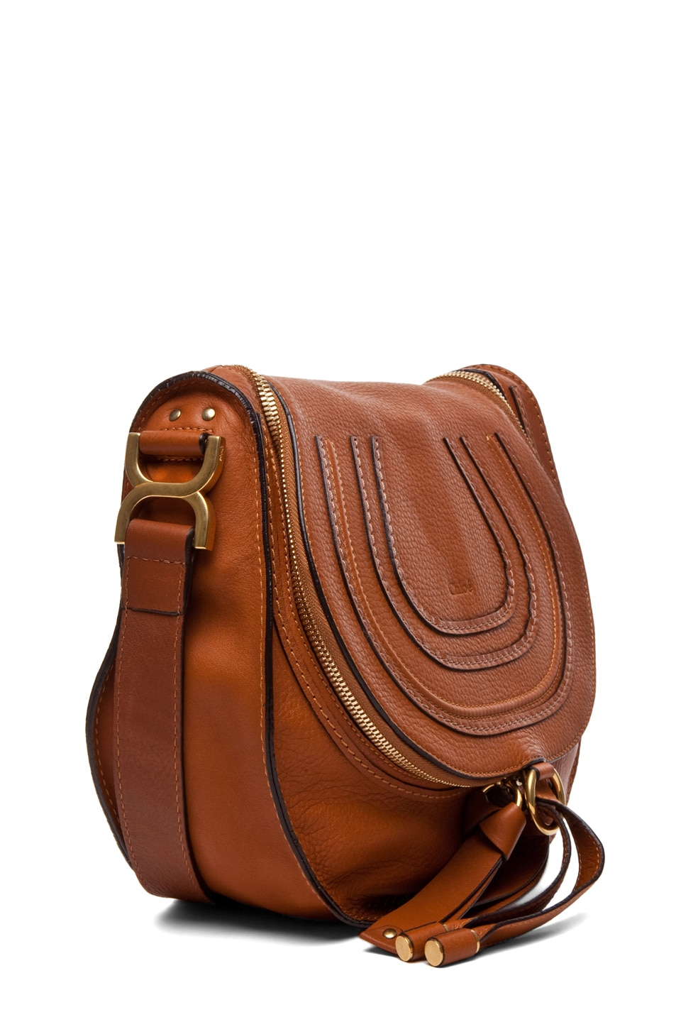 Image 3 of Chloe Marcie Crossbody in Tan
