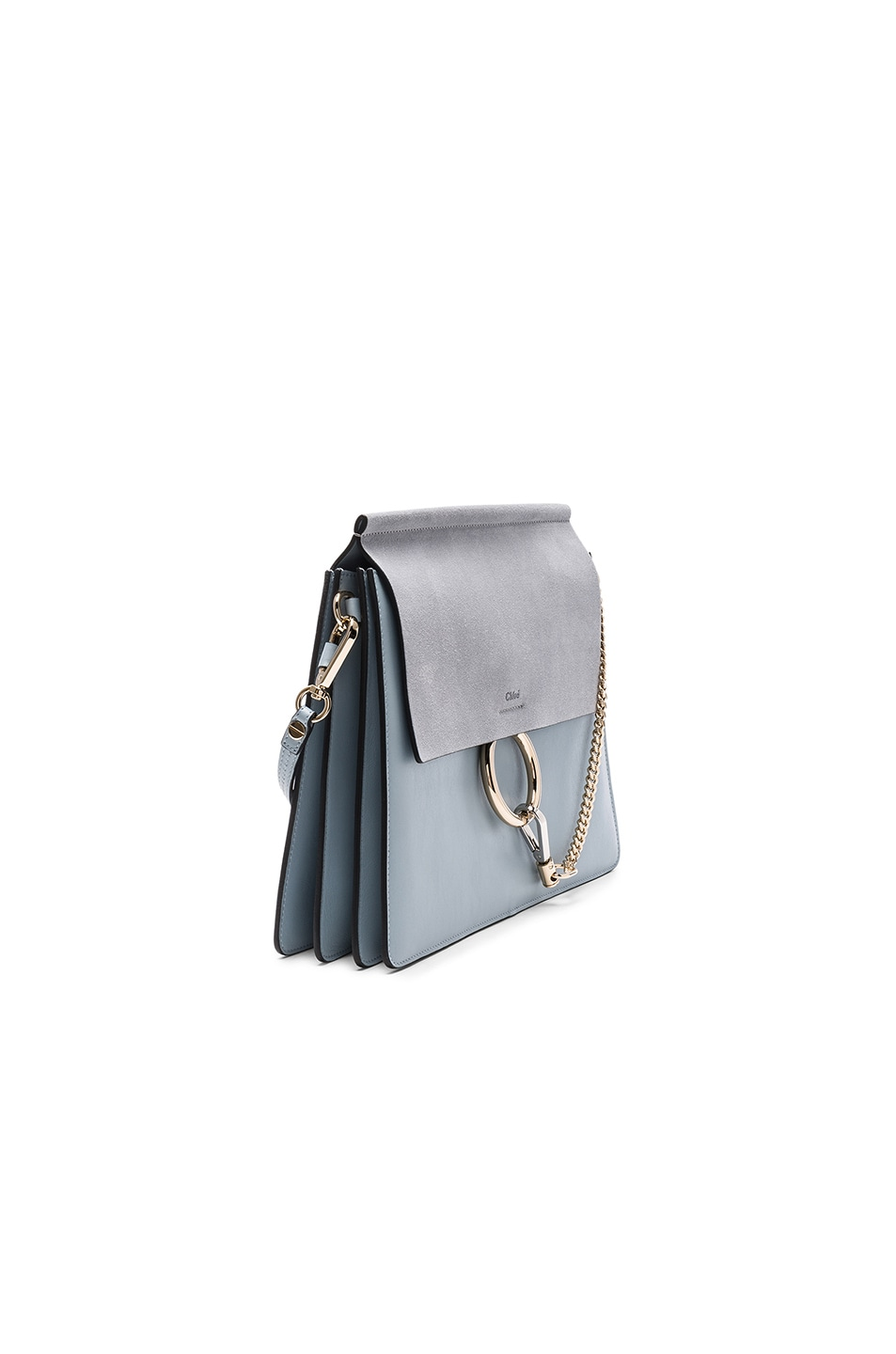 Image 3 of Chloe Medium Leather Faye Bag in Fresh Blue