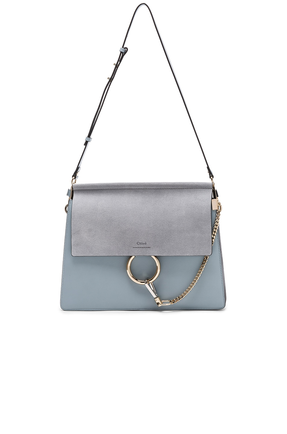 Image 5 of Chloe Medium Leather Faye Bag in Fresh Blue