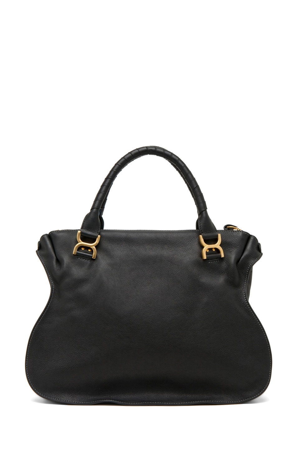 Image 2 of Chloe Large Marcie Shoulder Bag in Black