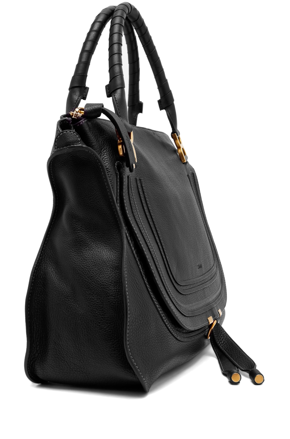Image 3 of Chloe Large Marcie Shoulder Bag in Black