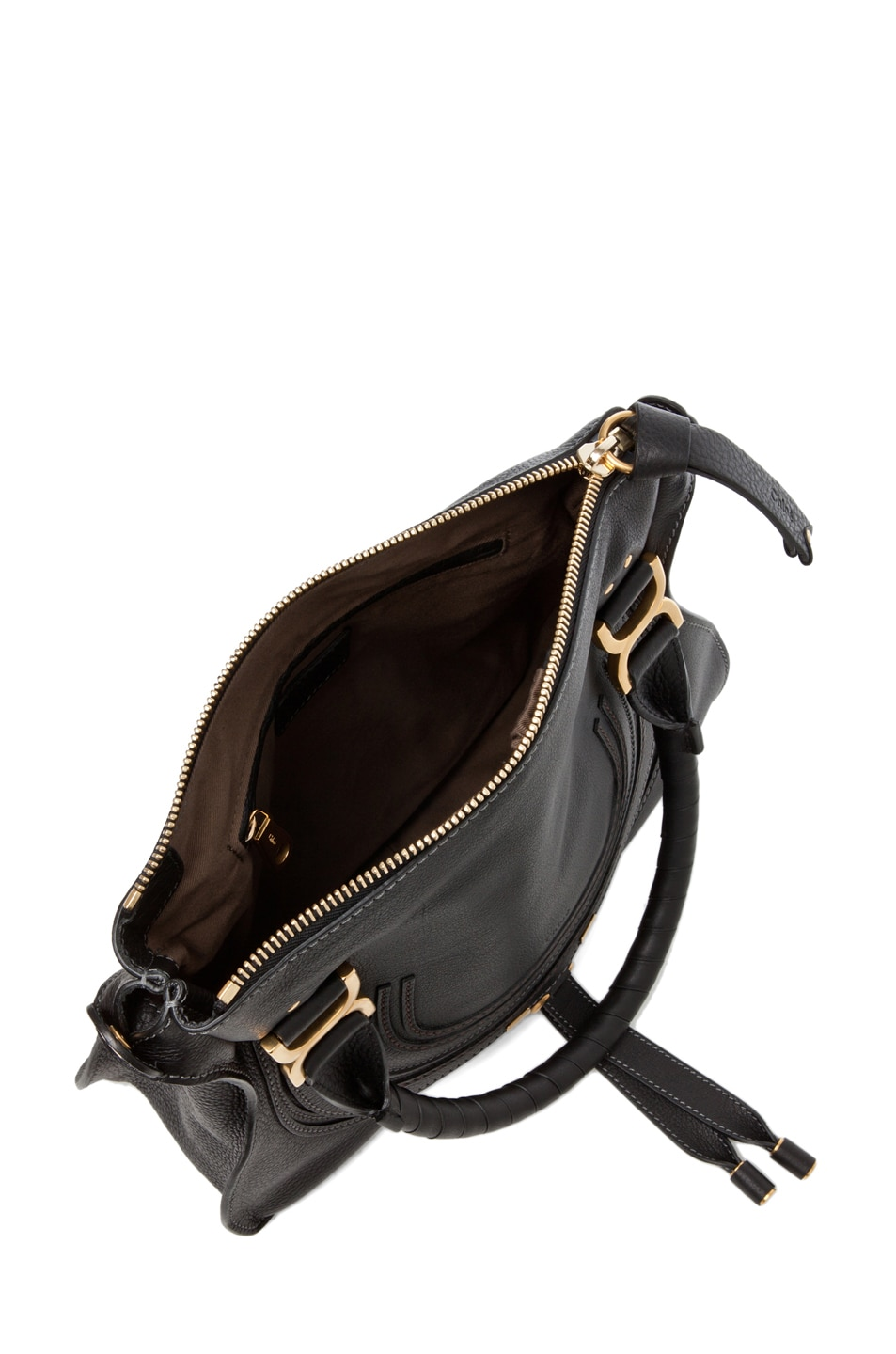 Image 4 of Chloe Marcie Satchel Small in Black