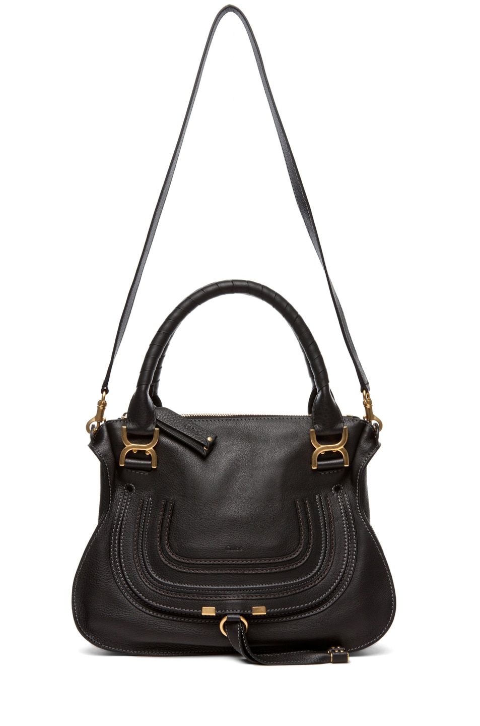Image 5 of Chloe Marcie Satchel Small in Black