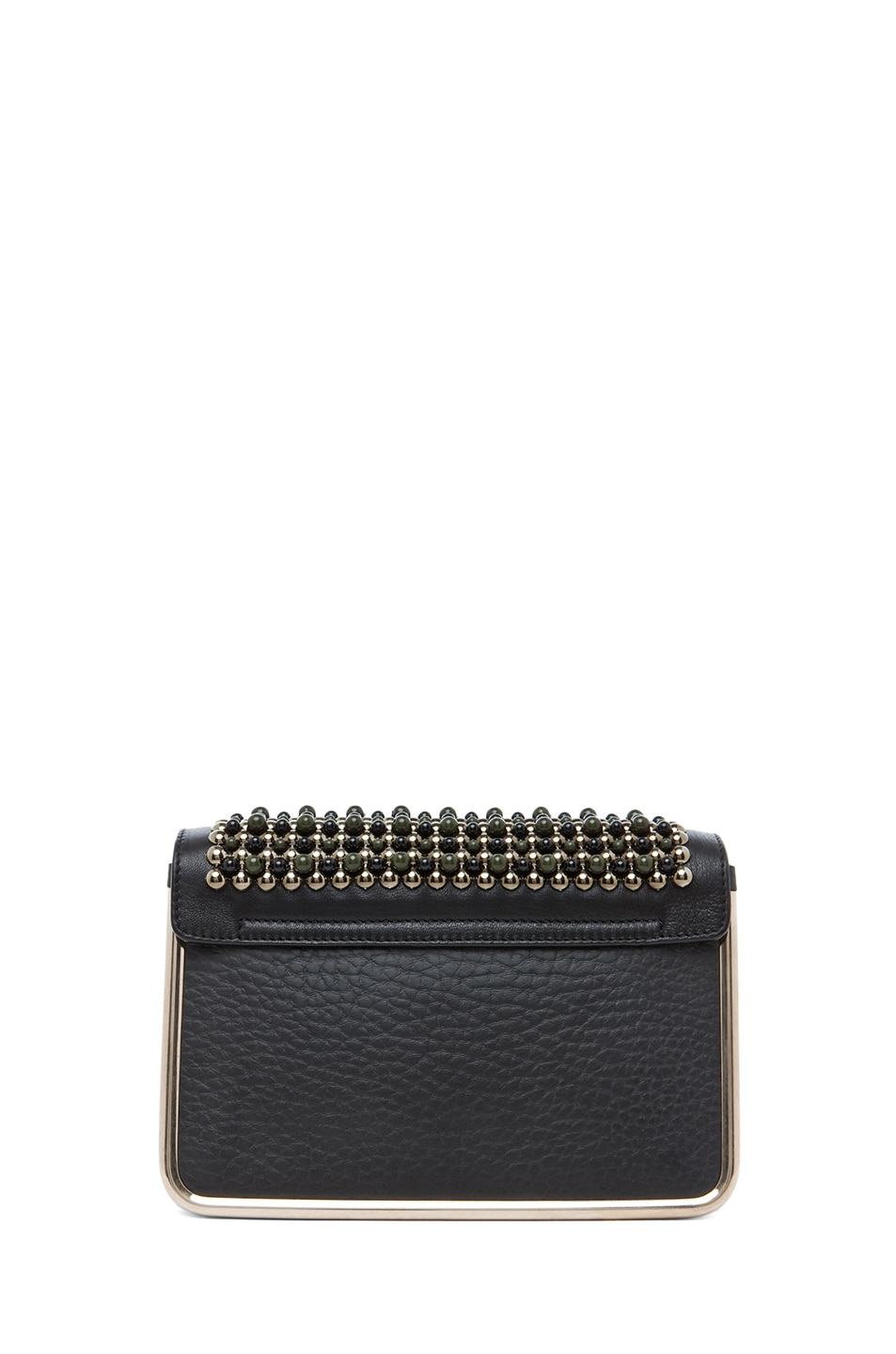 Image 2 of Chloe Sally Embroidered Small Shoulder Bag in Black