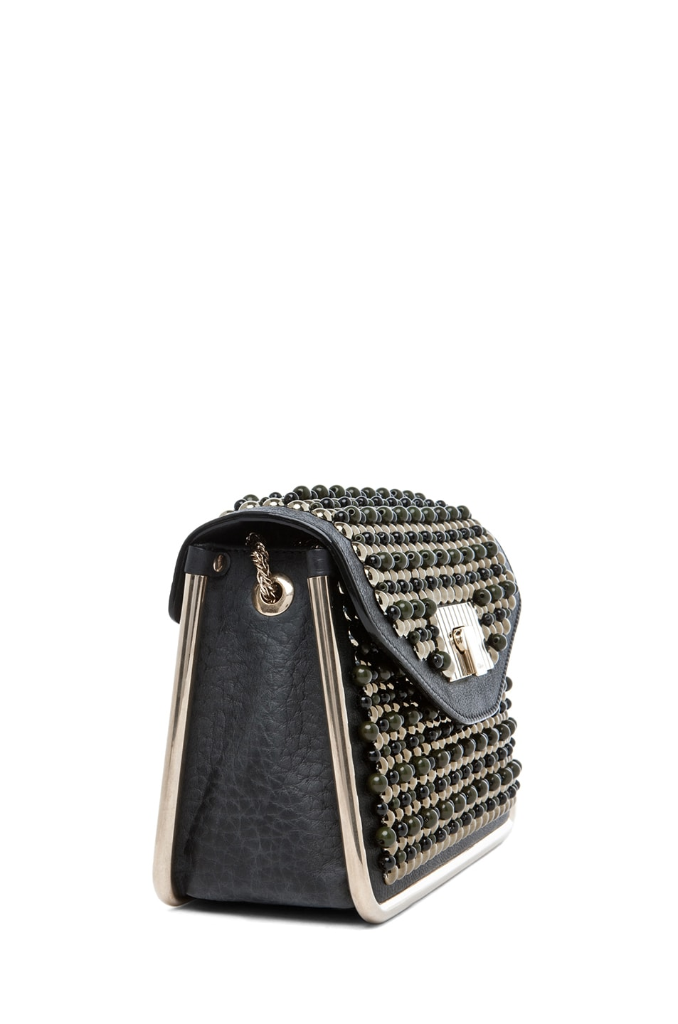 Image 3 of Chloe Sally Embroidered Small Shoulder Bag in Black