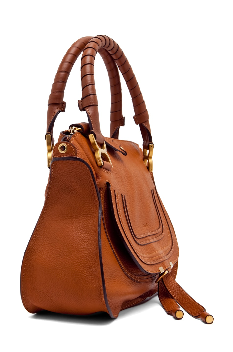 Image 3 of Chloe Small Marcie Shoulder Bag in Tan
