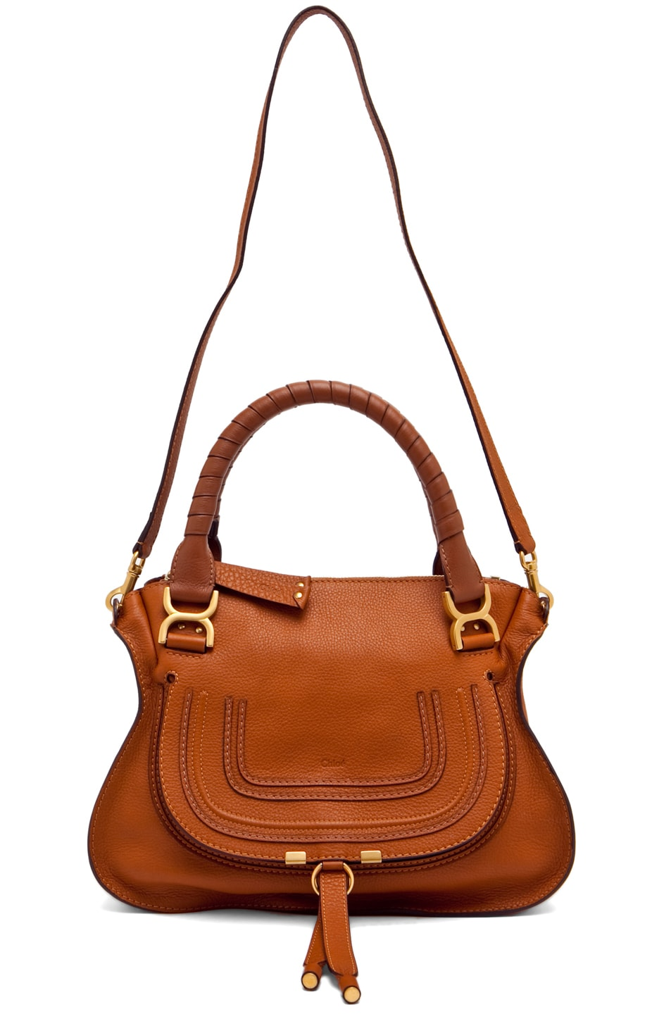 Image 5 of Chloe Small Marcie Shoulder Bag in Tan