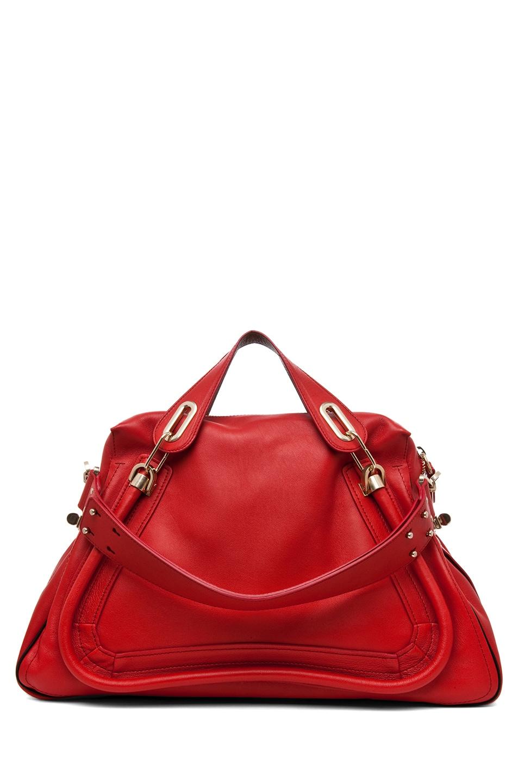 Image 2 of Chloe Paraty Handbag in Hollyberry