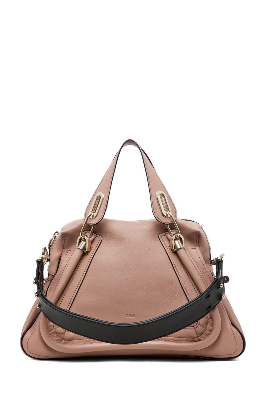 Image 2 of Chloe Paraty Military Medium Shoulder Bag in Tamris Pink