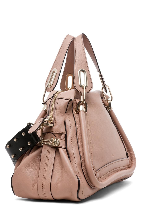 Image 3 of Chloe Paraty Military Medium Shoulder Bag in Tamris Pink