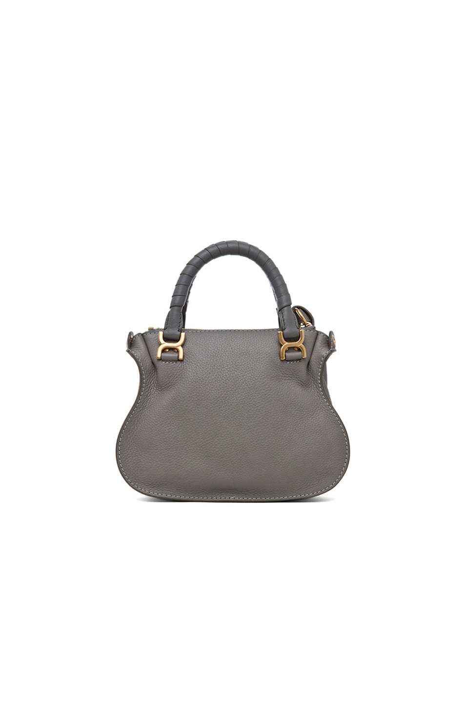 Image 2 of Chloe Mini Marcie Bag in Cashmere Grey
