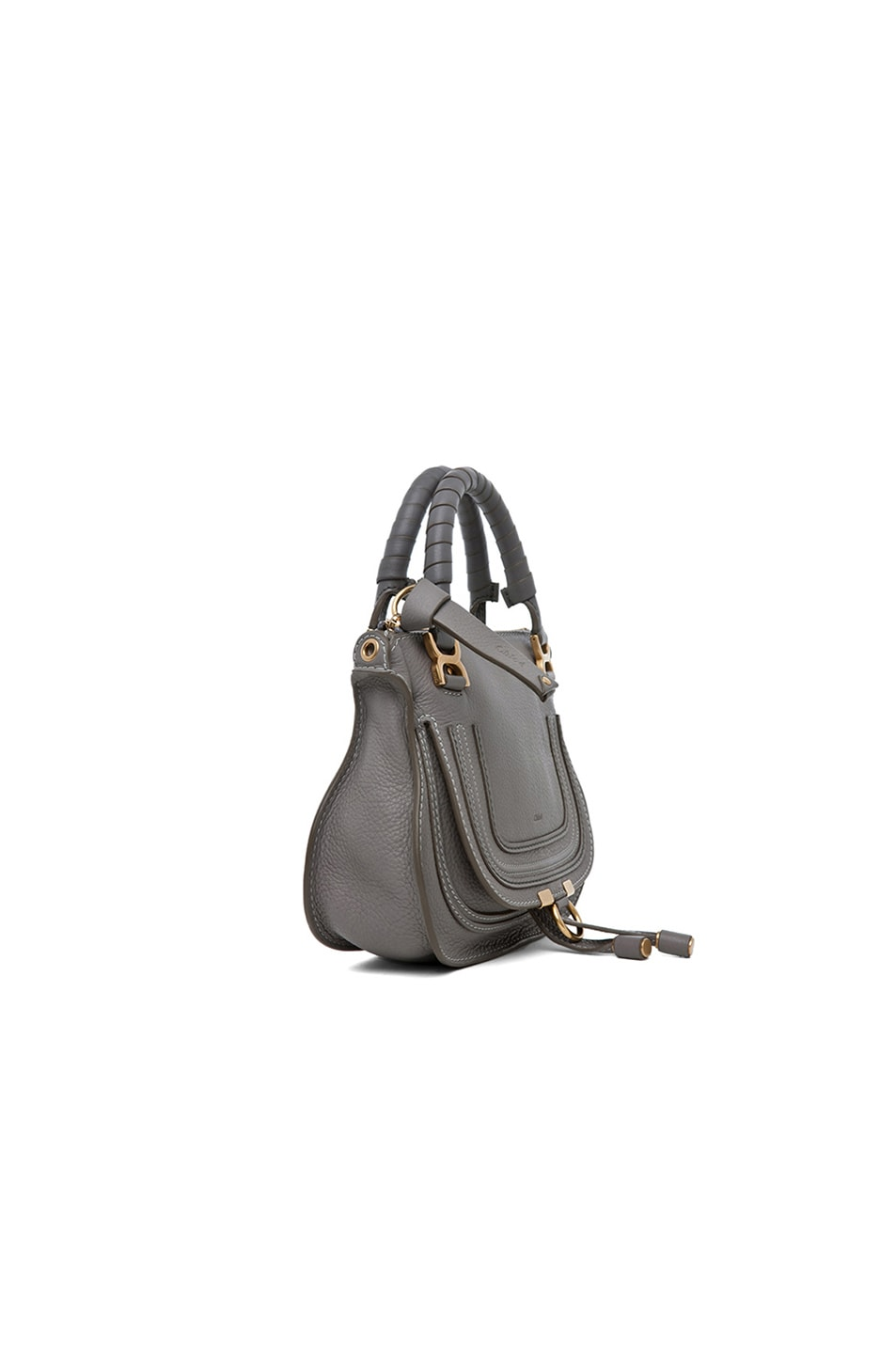 Image 3 of Chloe Mini Marcie Bag in Cashmere Grey