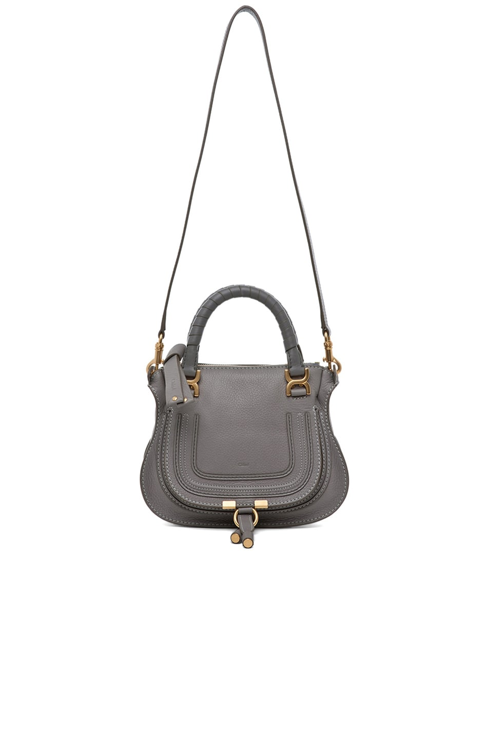 Image 5 of Chloe Mini Marcie Bag in Cashmere Grey