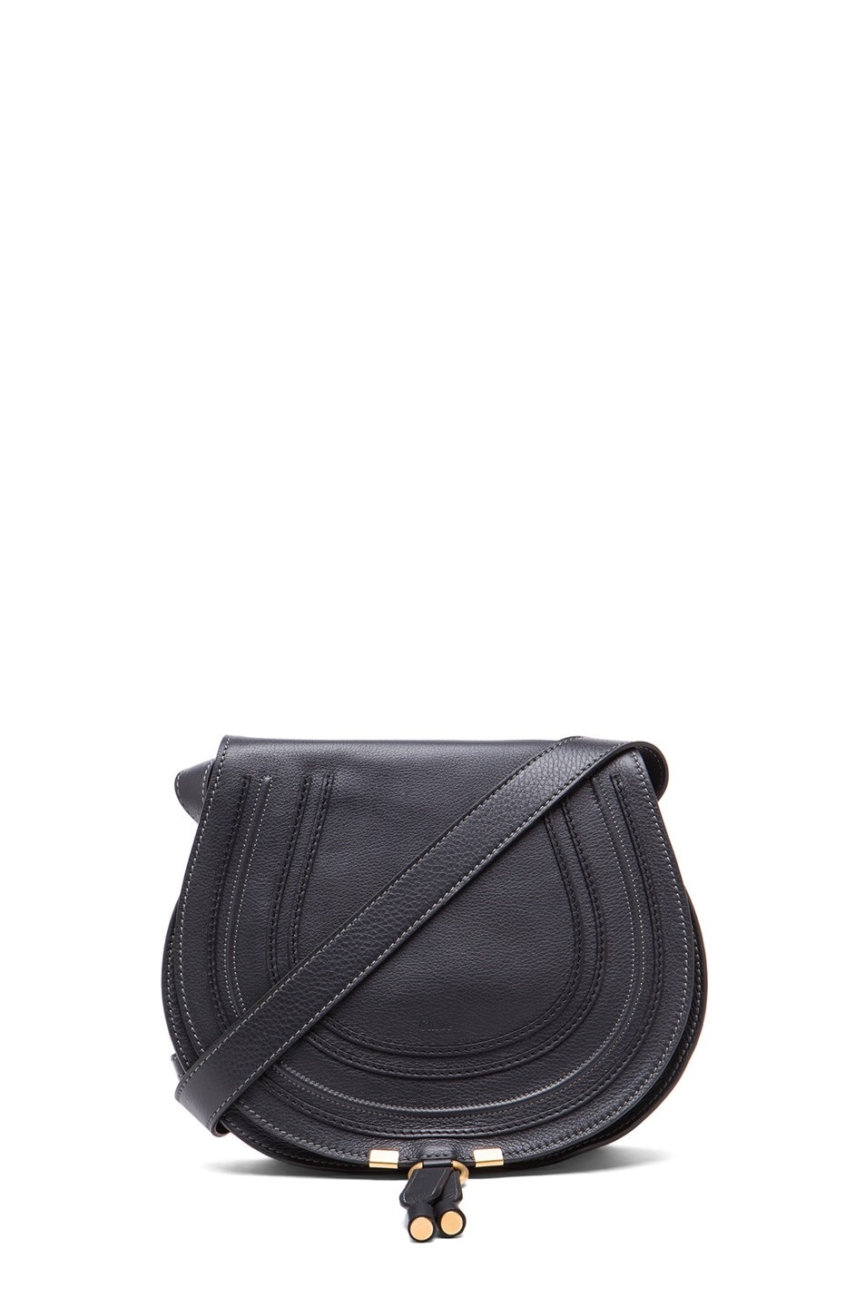 Image 1 of Chloe Medium Marcie Satchel in Black Bat