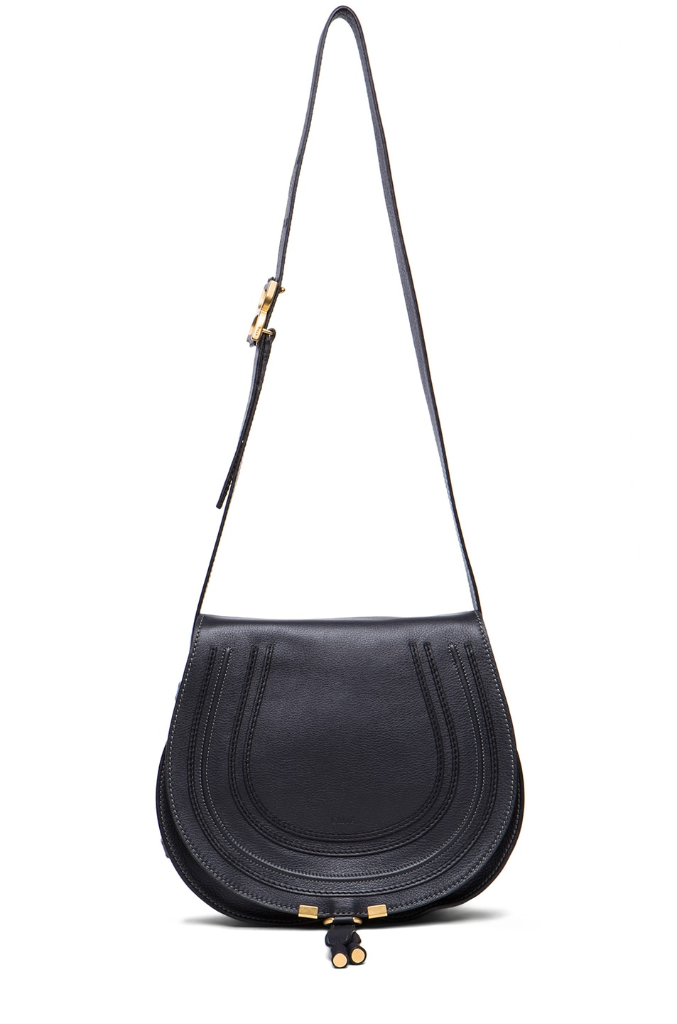 Image 5 of Chloe Medium Marcie Satchel in Black Bat