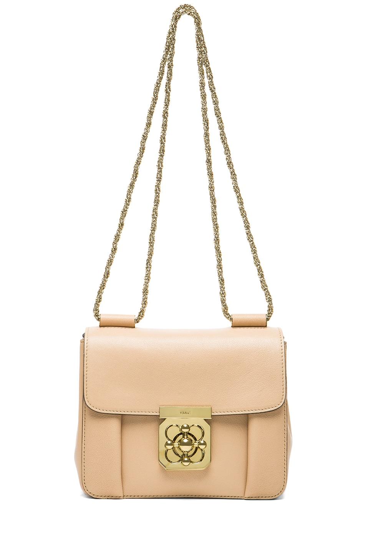 Chloe Small Elsie Shoulder Bag in Biscotti Beige | FWRD