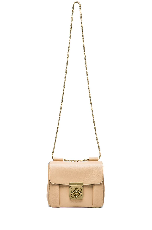 Image 6 of Chloe Small Elsie Shoulder Bag in Biscottie Beige