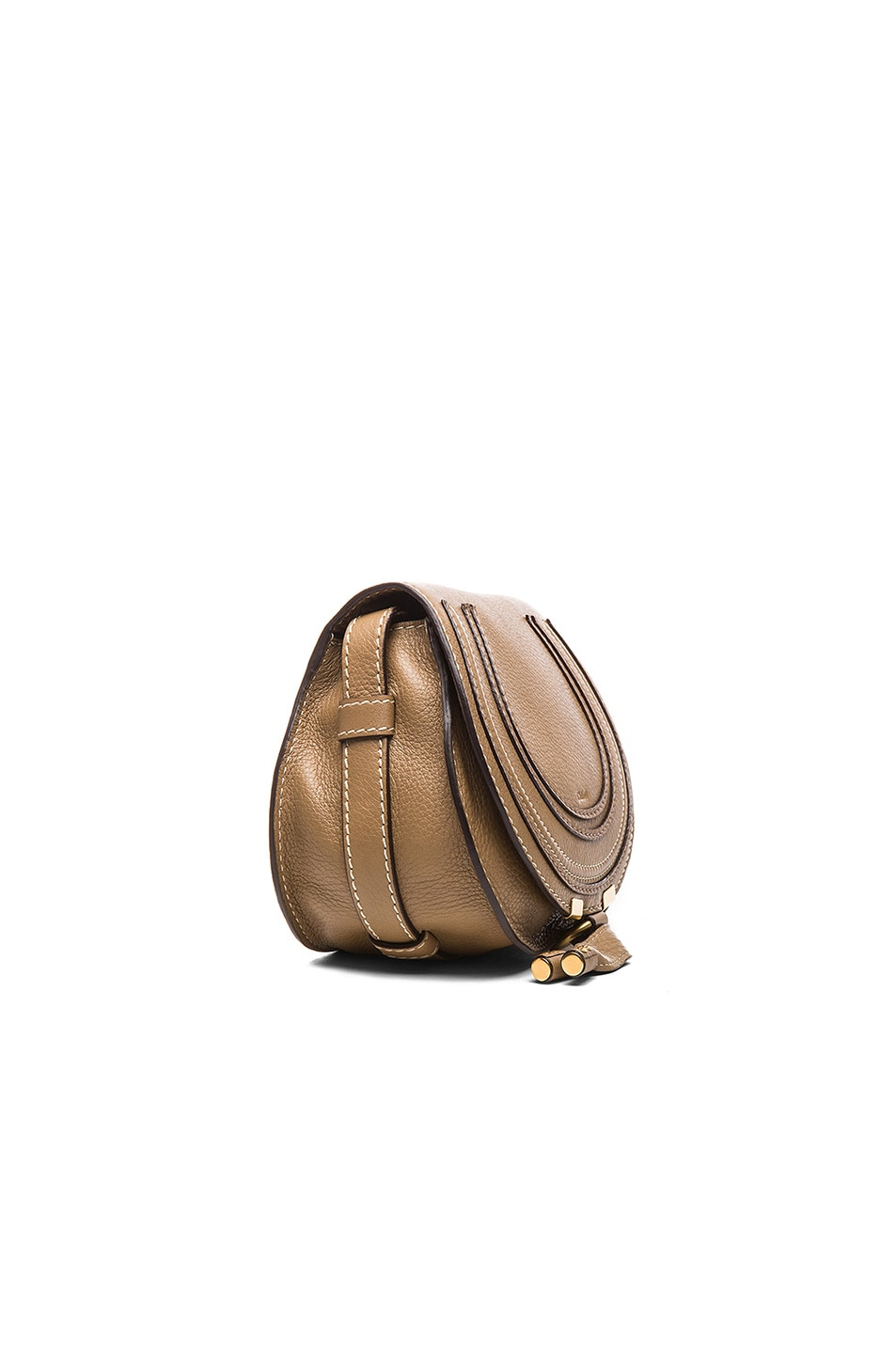 Image 3 of Chloe Small Marcie Saddle Bag in Nut