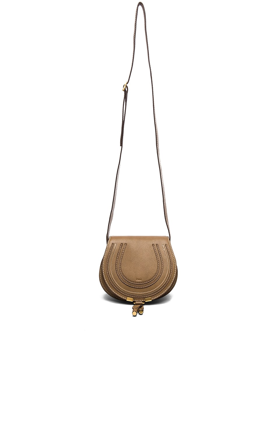 Image 5 of Chloe Small Marcie Saddle Bag in Nut