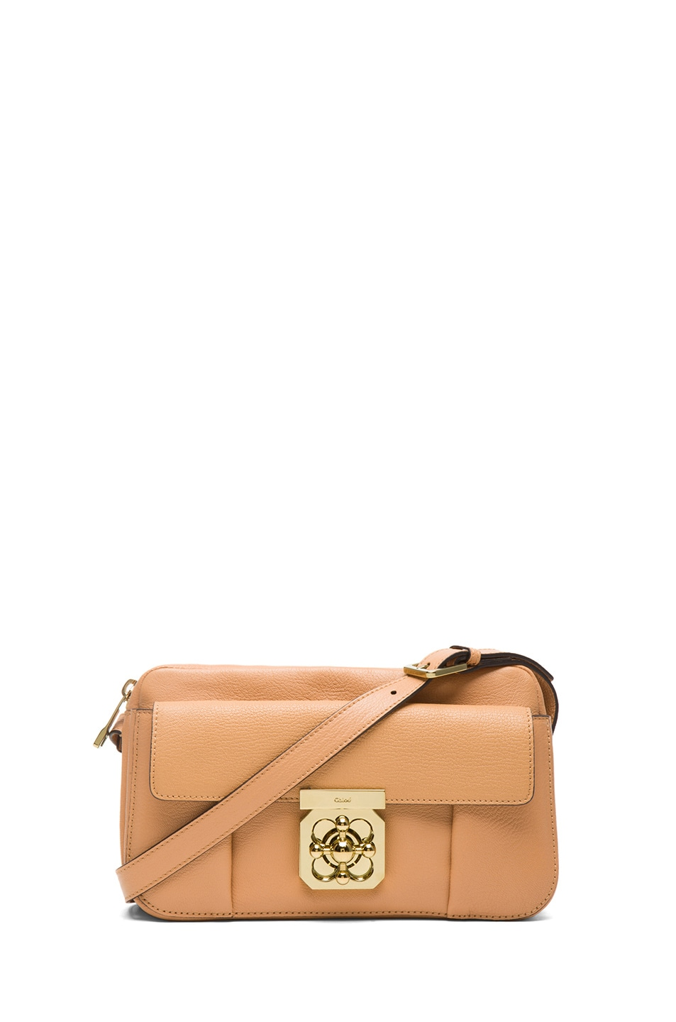 Image 1 of Chloe Medium Elsie Shoulder Bag in Rose Milk