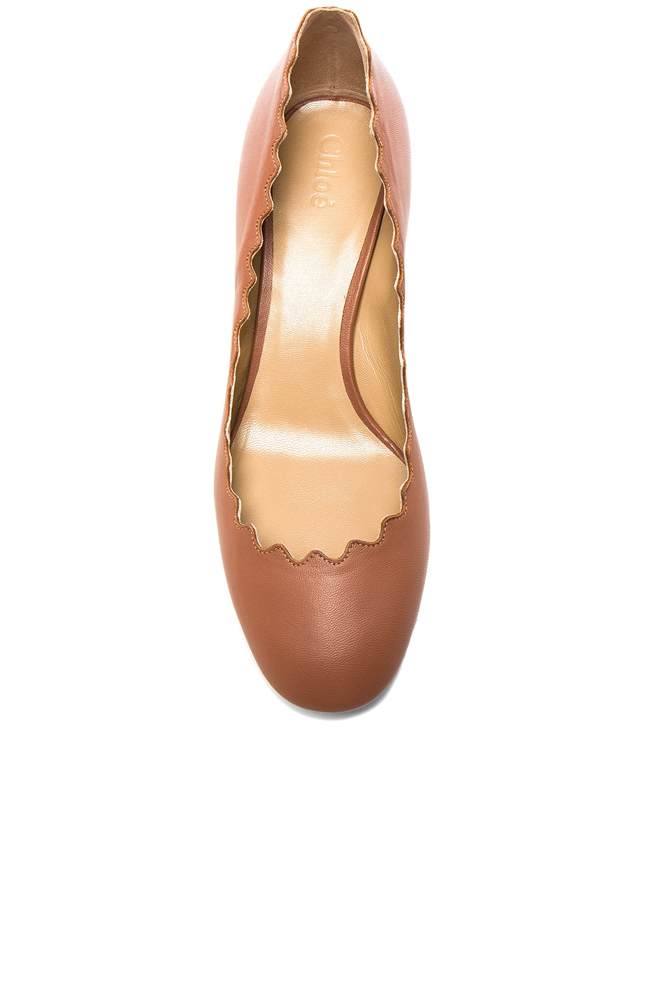 Image 4 of Chloe Lauren Leather Scallop Pumps in Blush Pink