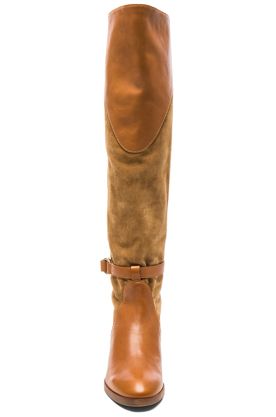 Image 4 of Chloe Suede Lenny Over the Knee Boots in Dune
