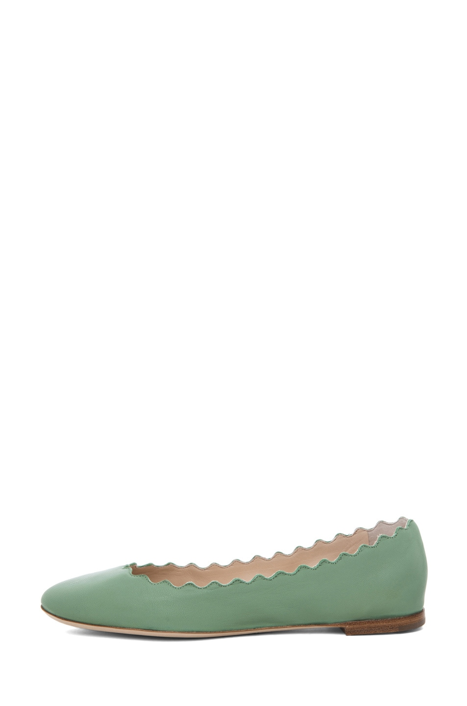 Image 1 of Chloe Lauren Scalloped Flat in Mint