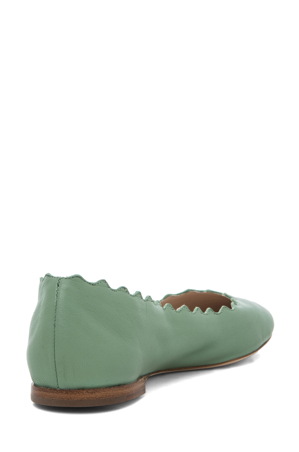 Image 3 of Chloe Lauren Scalloped Flat in Mint