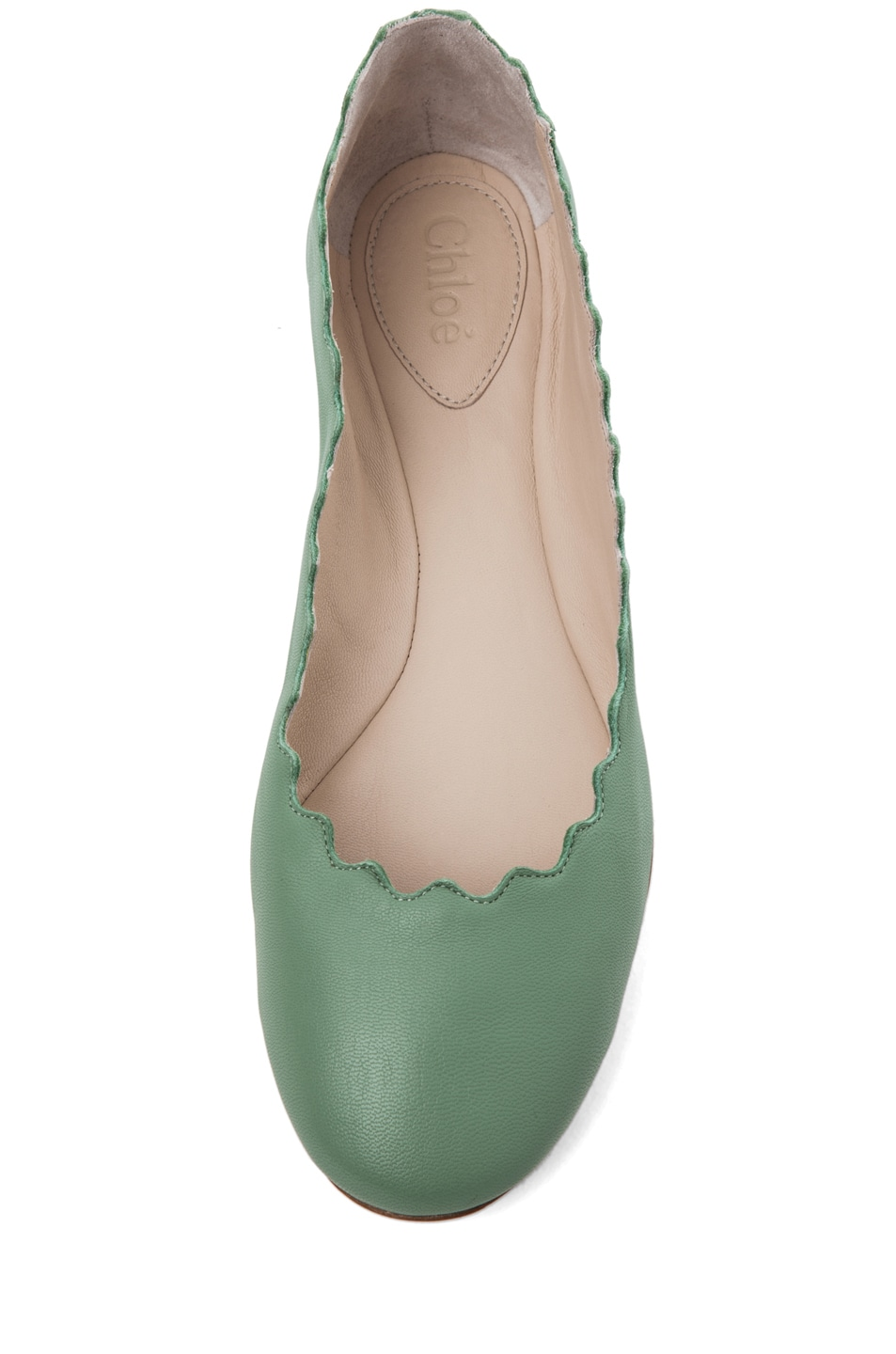 Image 4 of Chloe Lauren Scalloped Flat in Mint