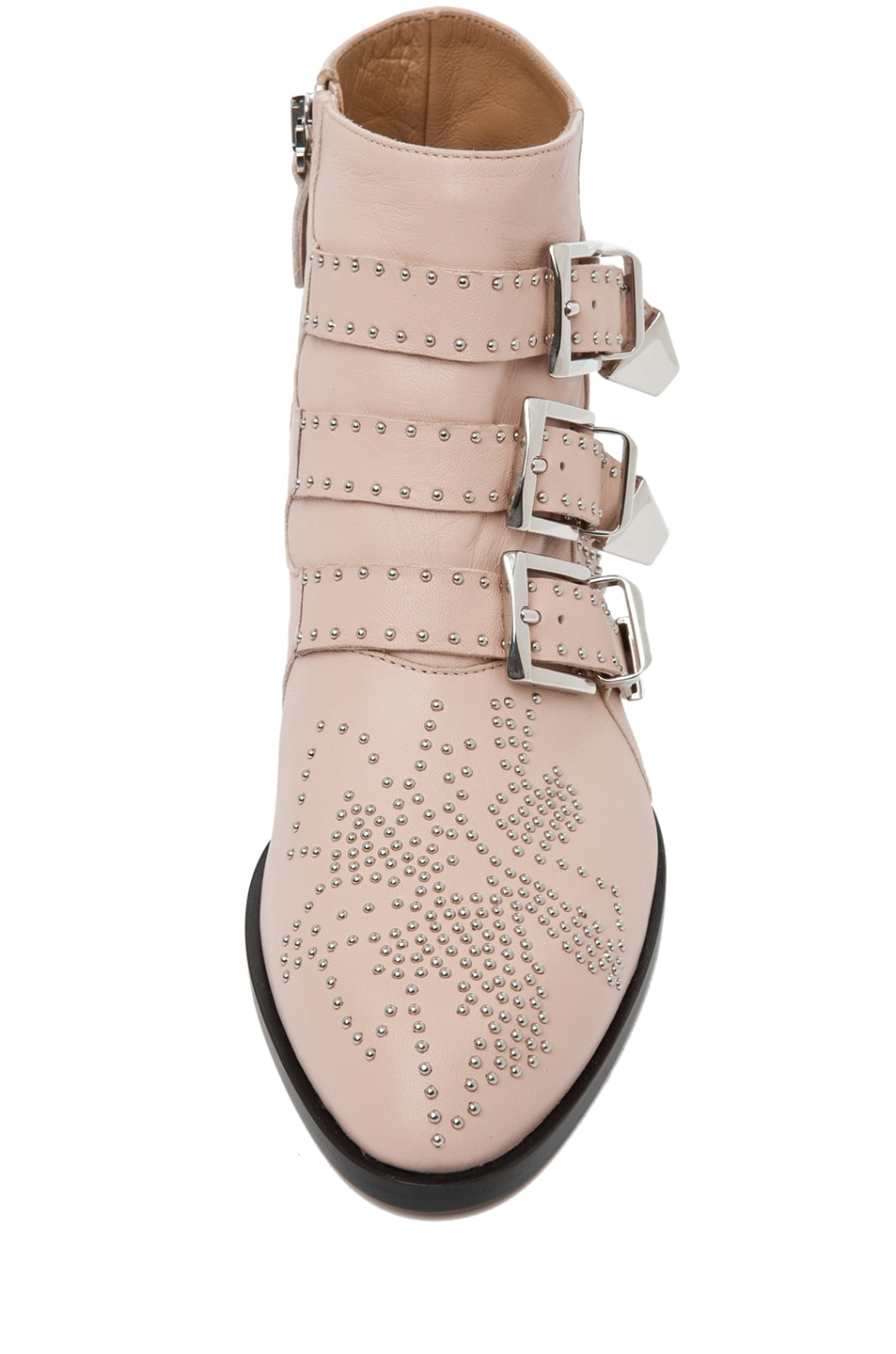 Image 4 of Chloe Susanna Leather Studded Bootie in Nude Pink