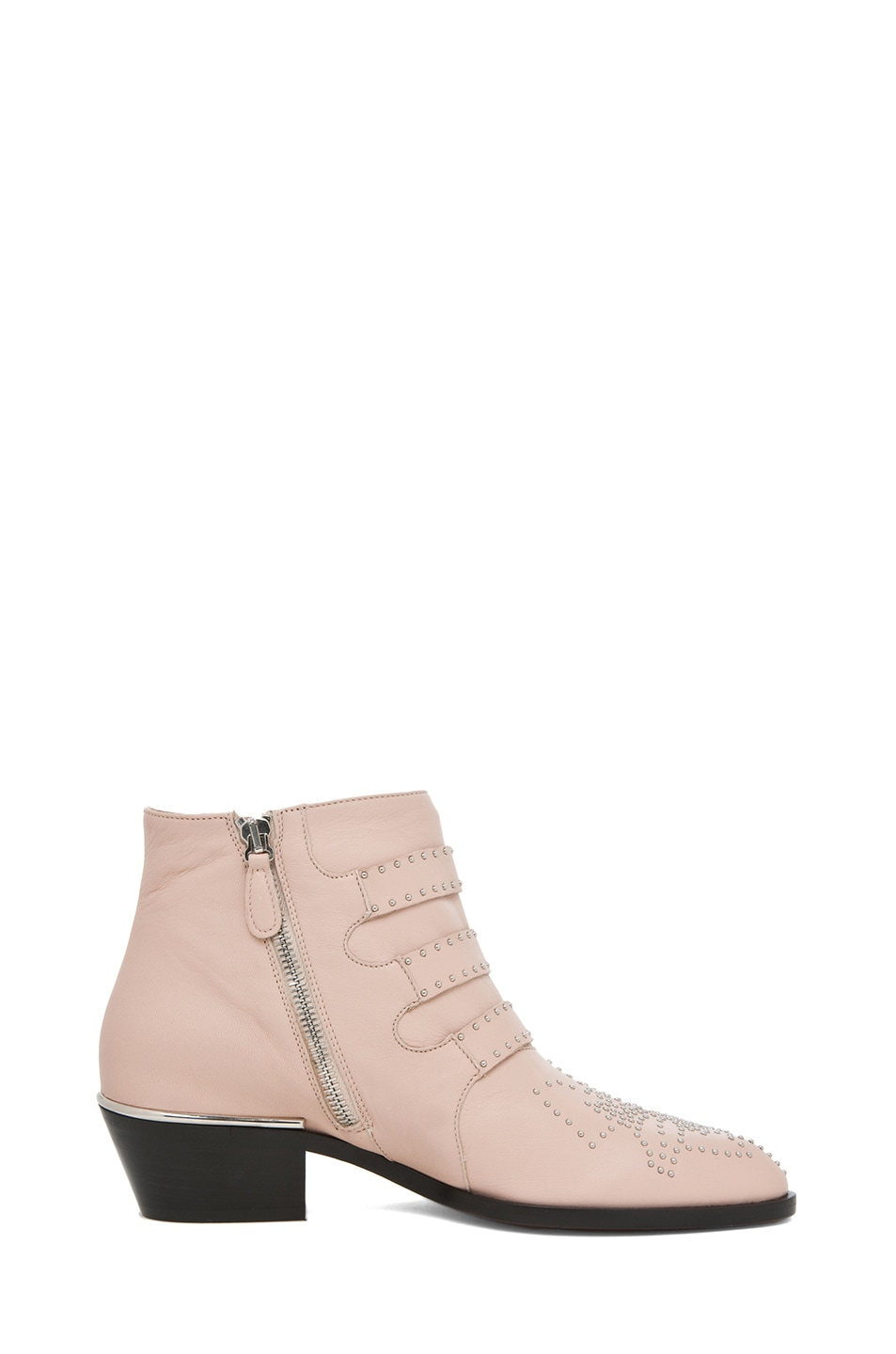 Image 5 of Chloe Susanna Leather Studded Bootie in Nude Pink