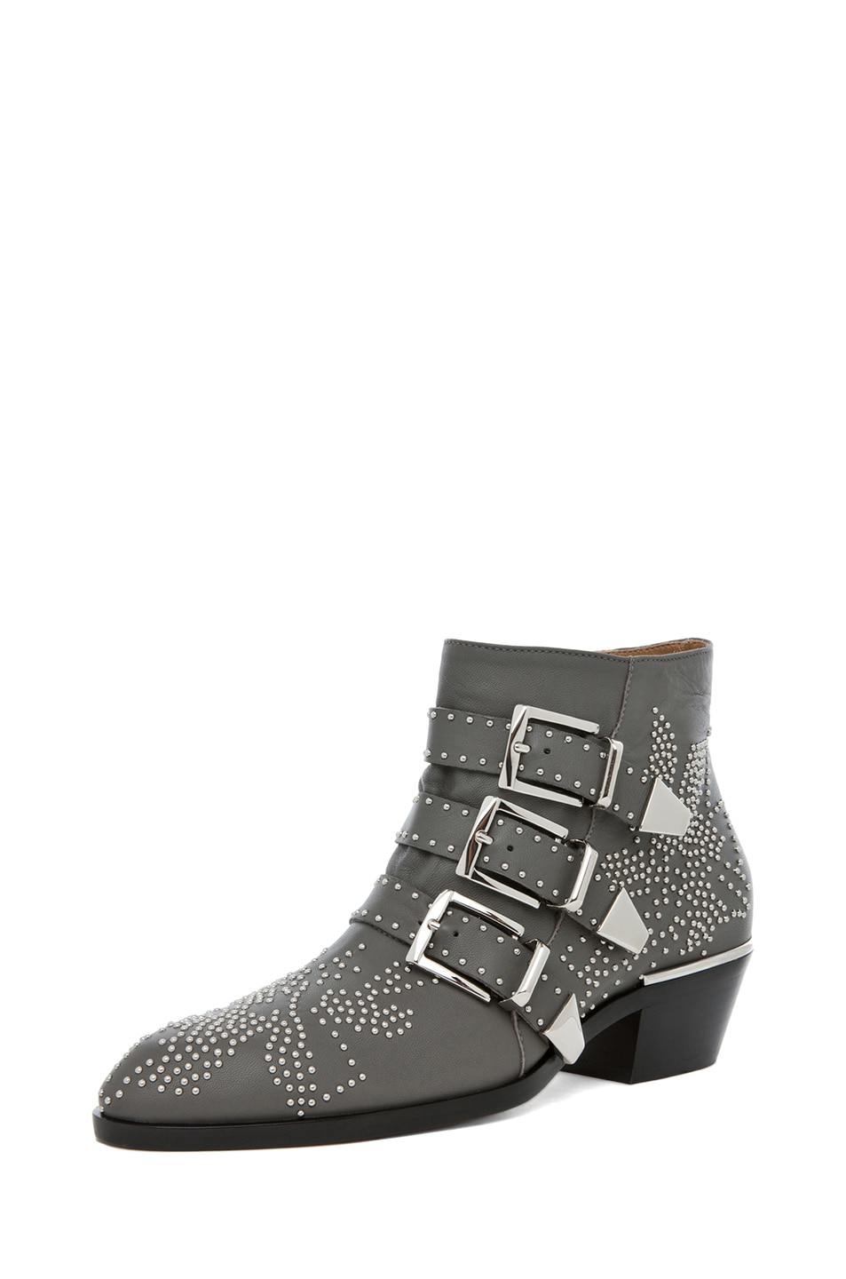 Image 2 of Chloe Susanna Studded Bootie in Charcoal