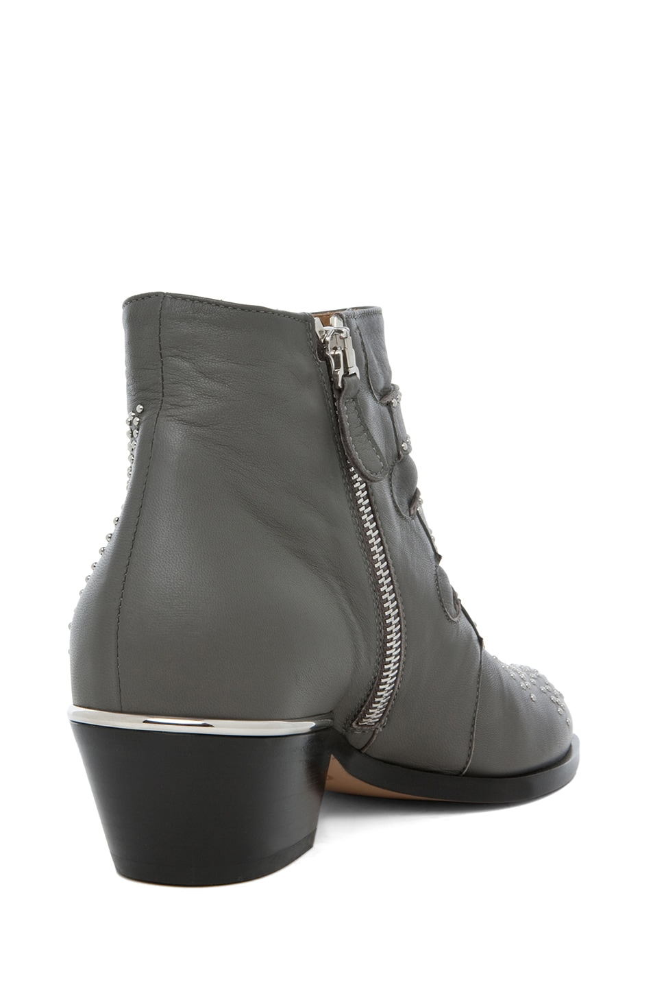 Image 3 of Chloe Susanna Studded Bootie in Charcoal