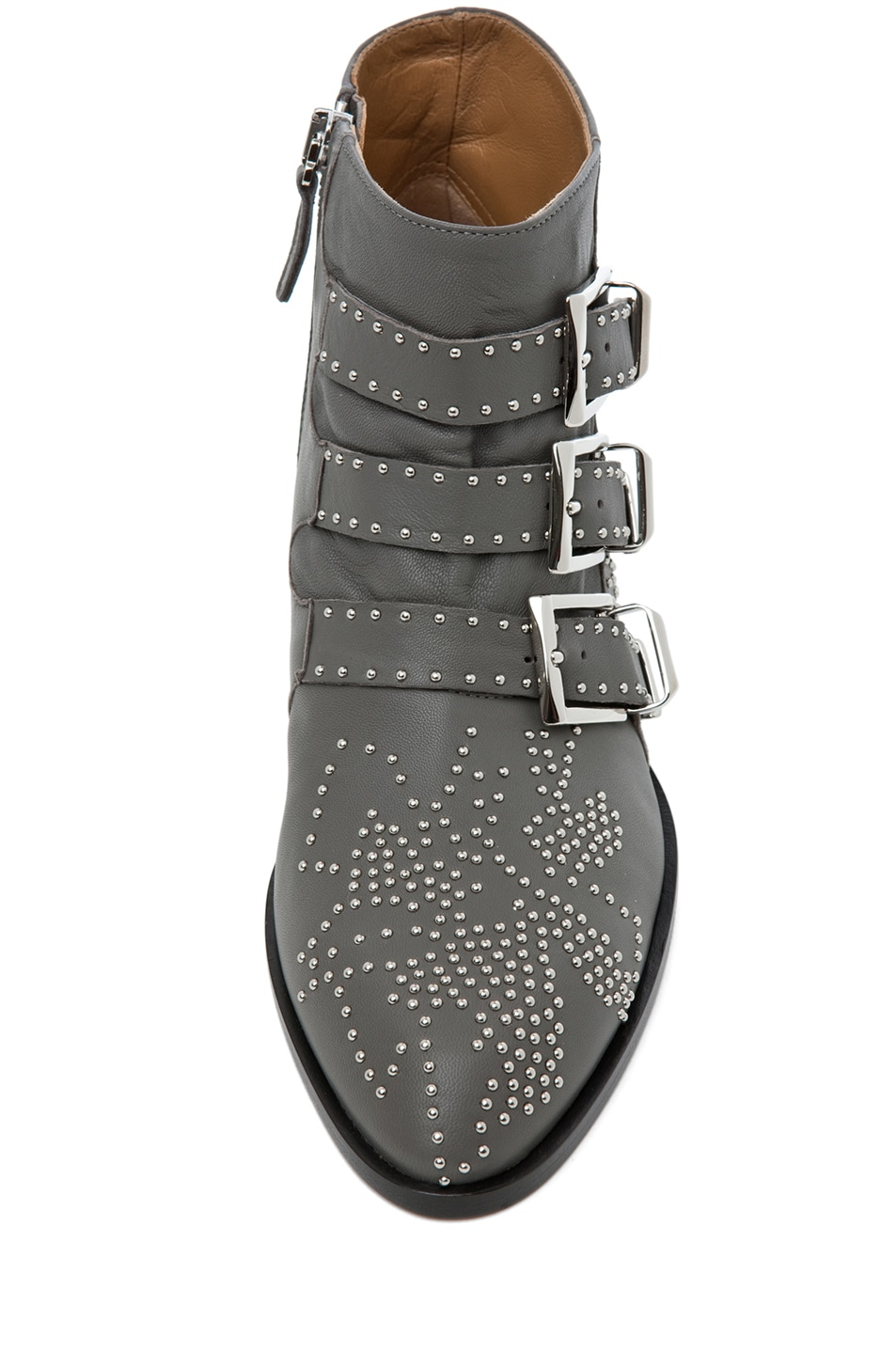Image 4 of Chloe Susanna Studded Bootie in Charcoal