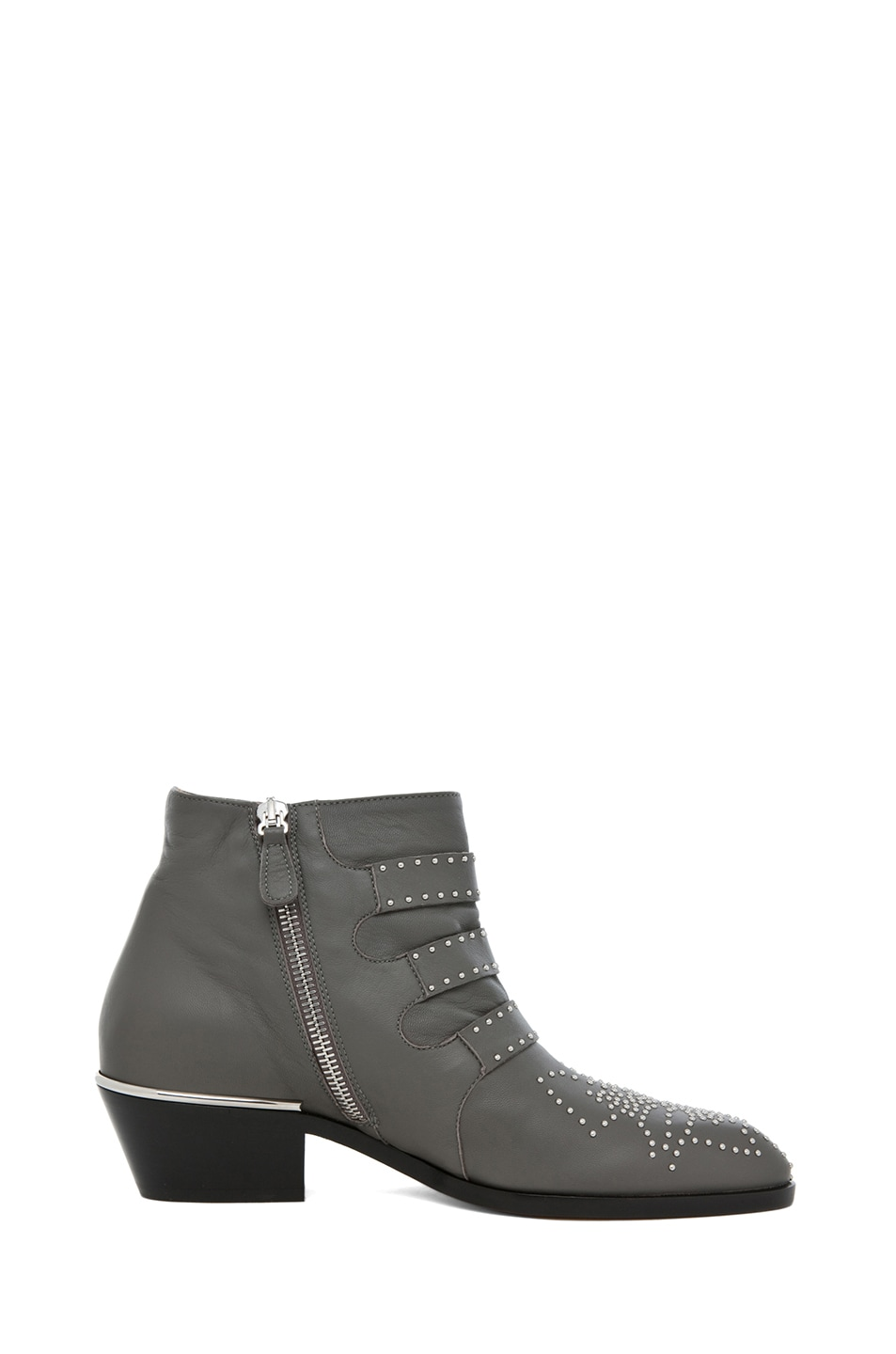 Image 5 of Chloe Susanna Studded Bootie in Charcoal