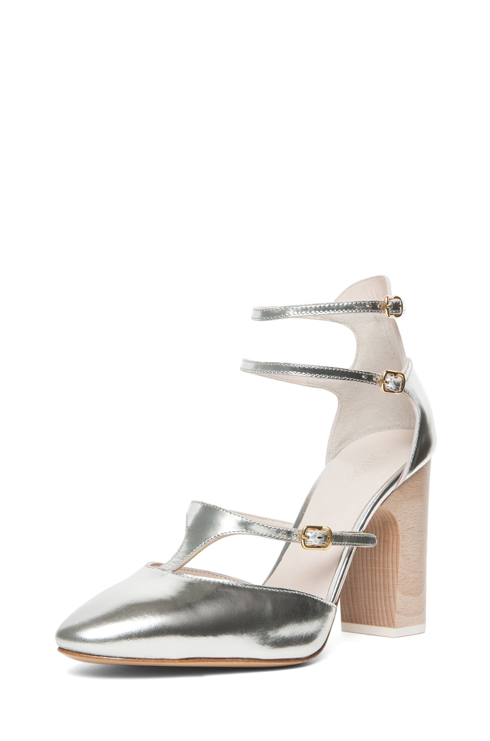Image 2 of Chloe Runway Heel in Silver