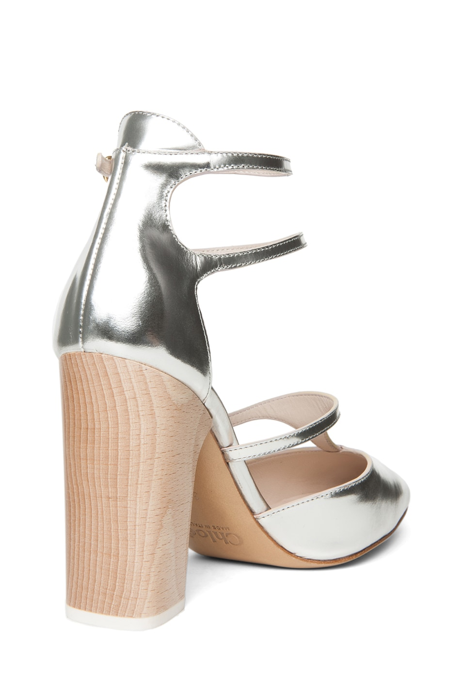 Image 3 of Chloe Runway Heel in Silver