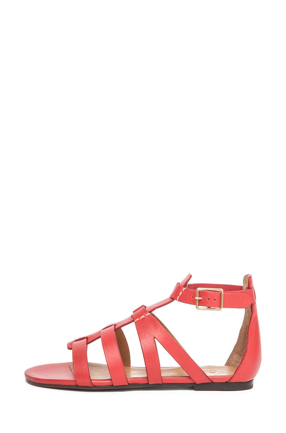 Image 1 of Chloe Leather Gladiator Sandals in Red