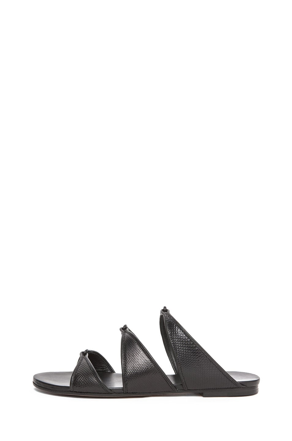 Image 1 of Chloe Karung Leather Slip On Sandals in Nero