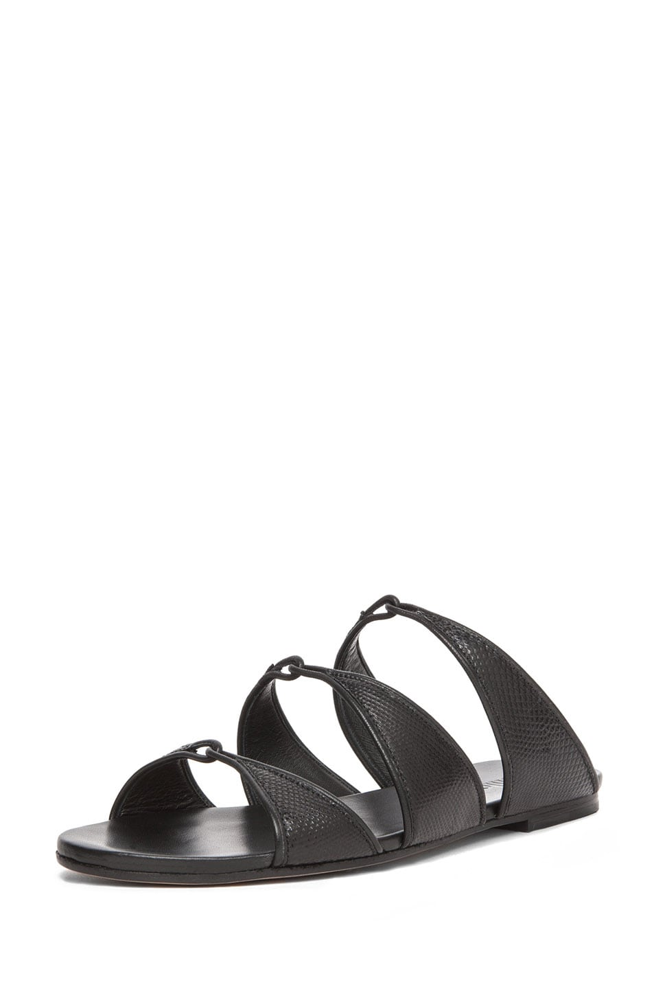 Image 2 of Chloe Karung Leather Slip On Sandals in Nero