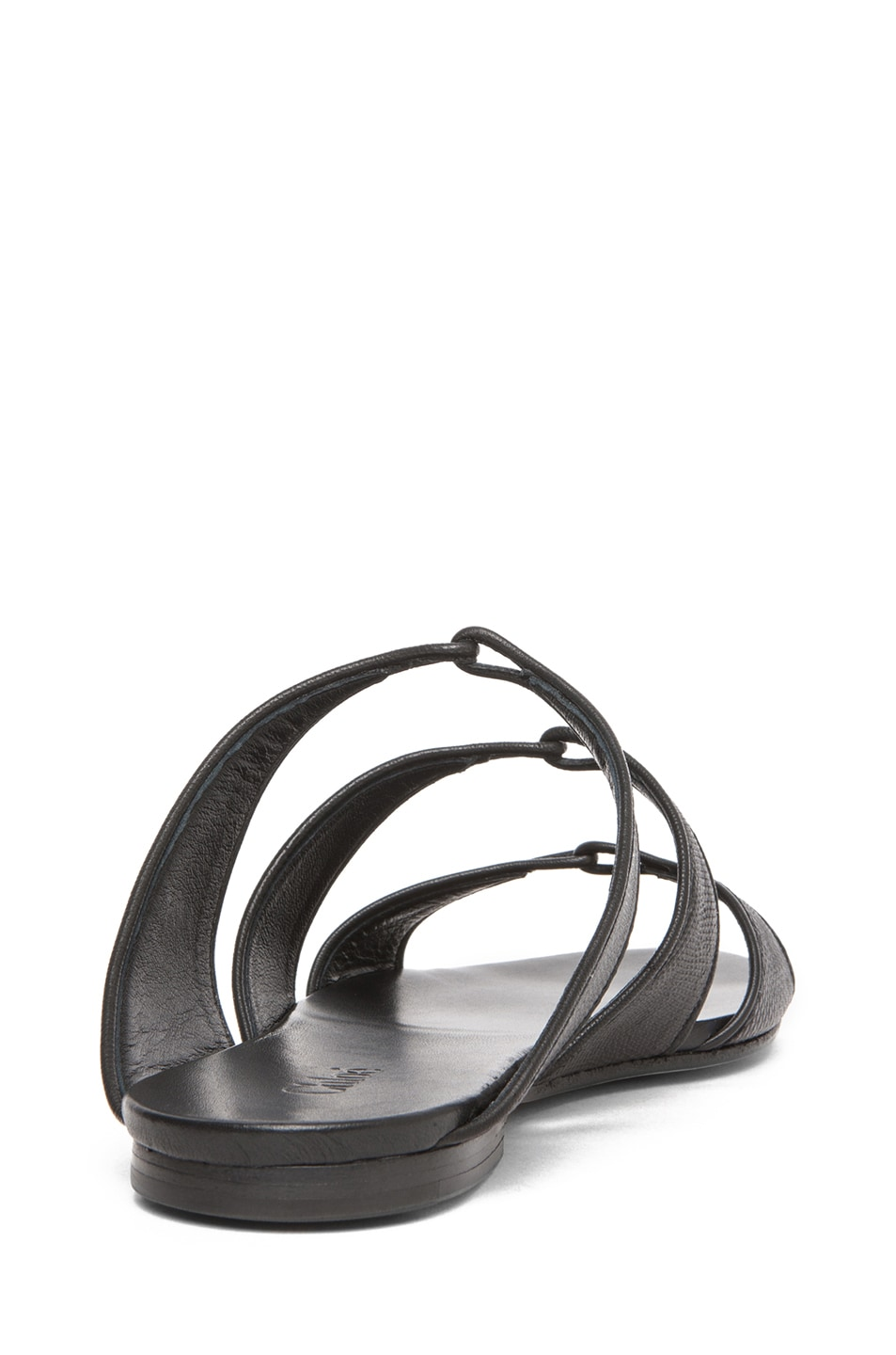 Image 3 of Chloe Karung Leather Slip On Sandals in Nero