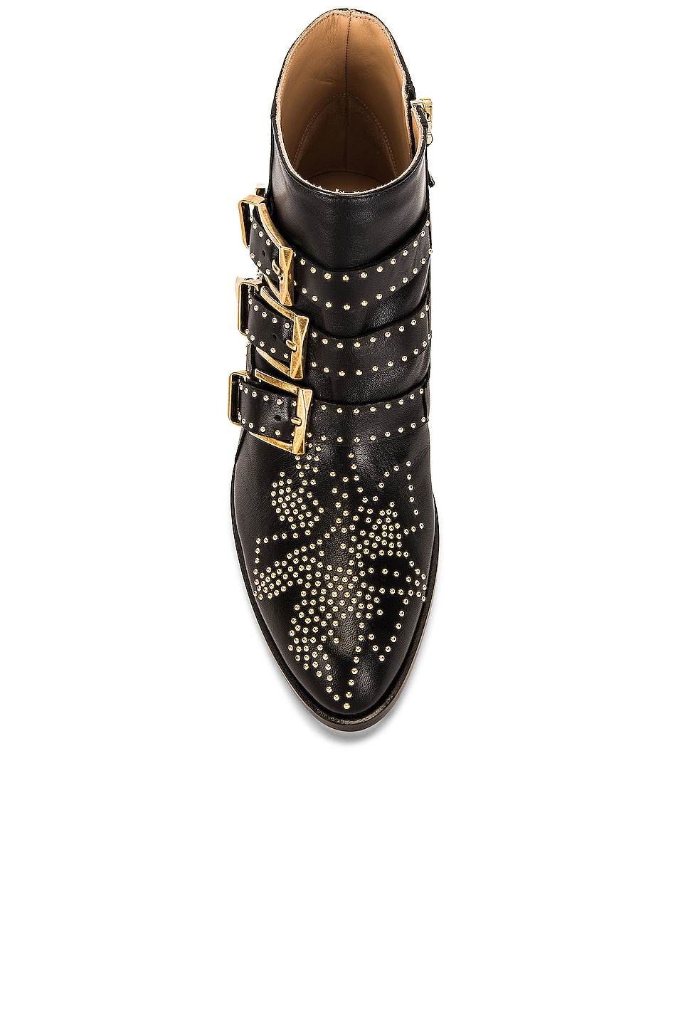 Image 4 of Chloe Susanna Leather Studded Booties in Black