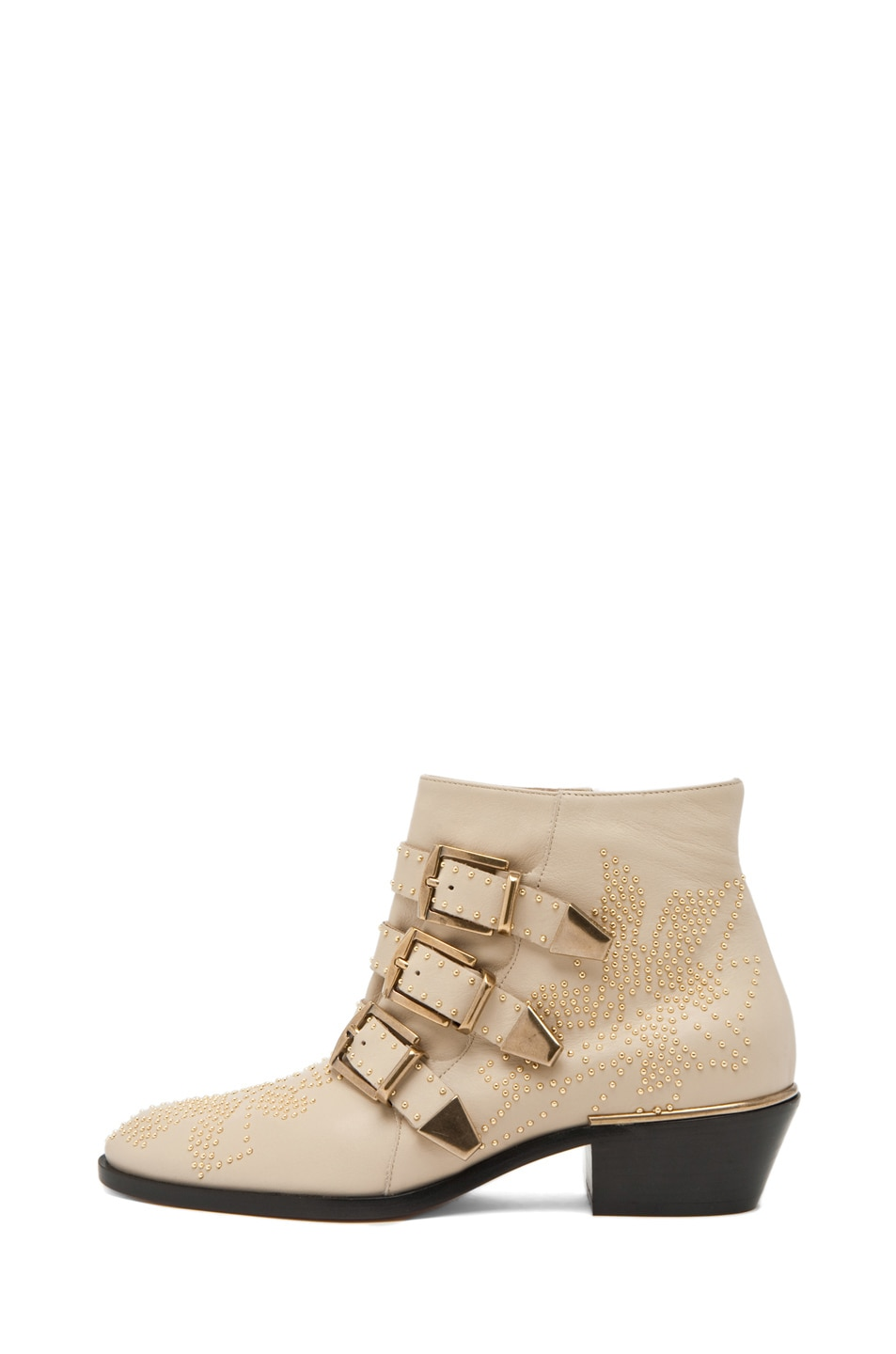 Image 1 of Chloe Susanna Leather Studded Bootie in Cream