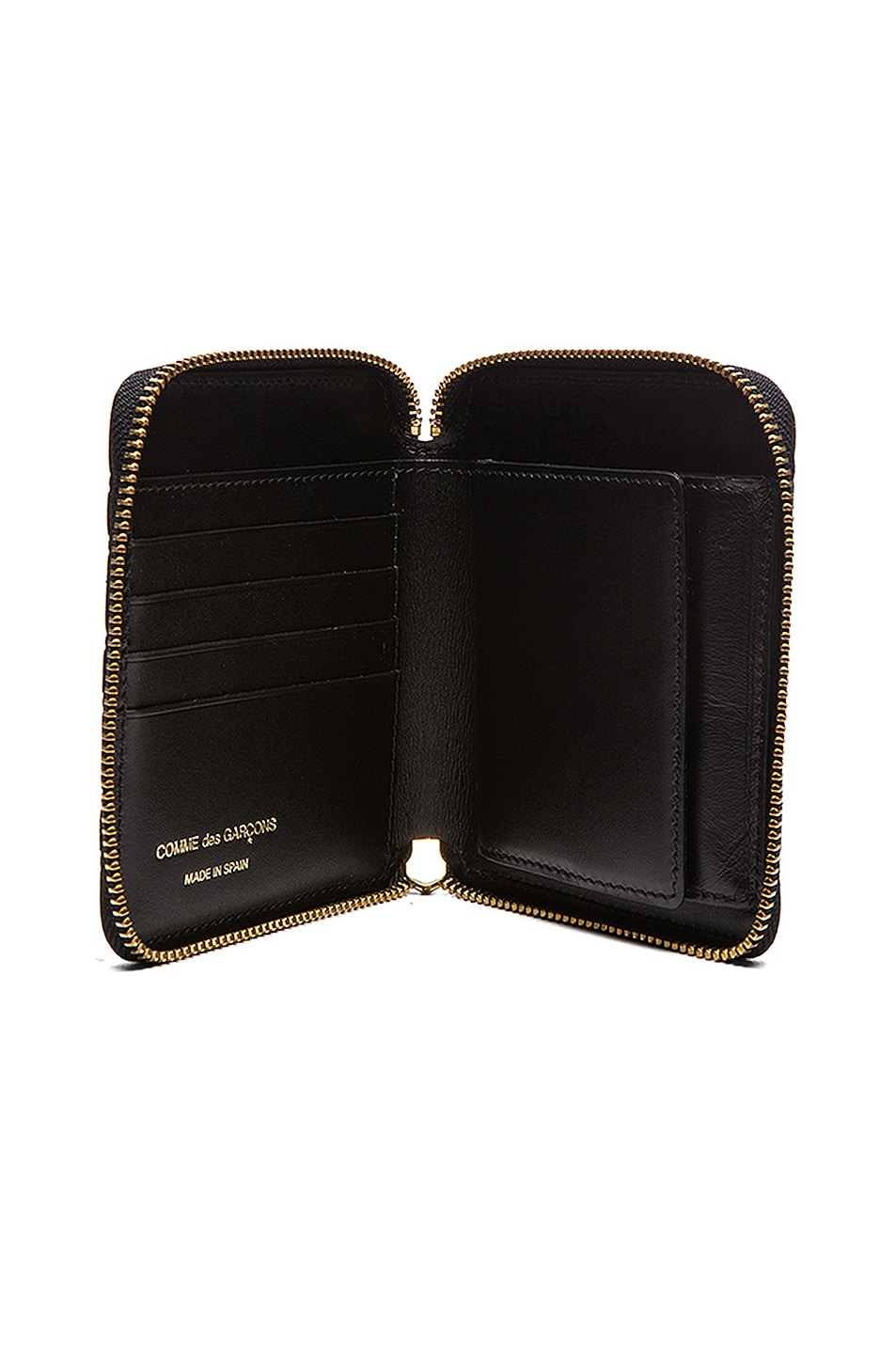 Image 4 of Comme Des Garcons Star Embosed Classic Wallet in Black