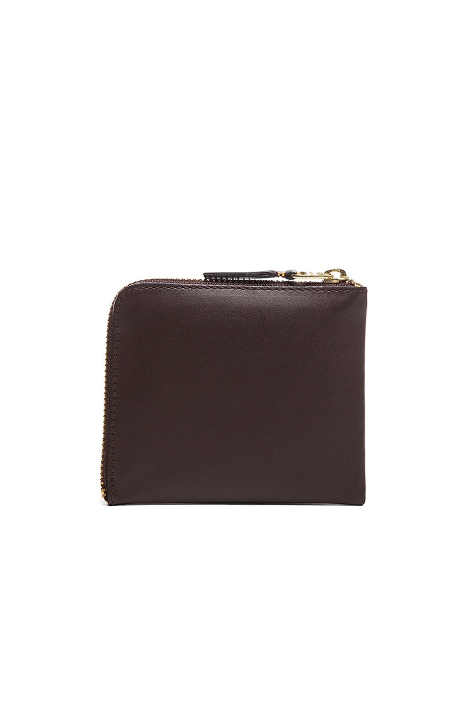 Image 2 of Comme Des Garcons Small Zip Wallet in Brown